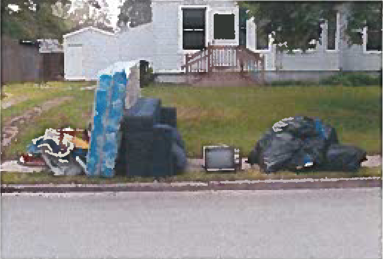 Acceptable placement of excess waste